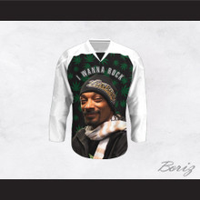 Snoop Dogg 20 I Wanna Rock Cannabis Hockey Jersey Design 2