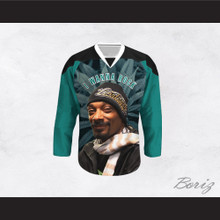 Snoop Dogg 20 I Wanna Rock Cannabis Hockey Jersey Design 3