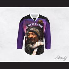 Snoop Dogg 20 I Wanna Rock Cannabis Hockey Jersey Design 4