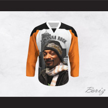 Snoop Dogg 20 I Wanna Rock Cannabis Hockey Jersey Design 5