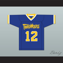 Cole Powers 12 Fernfield Timberwolves Football Jersey