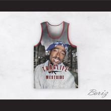 2Pac Shakur 99 Thug Life Westside Basketball Jersey Design 3
