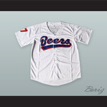 BASEketball Doug Remer 17 Milwaukee Beers Baseball Jersey