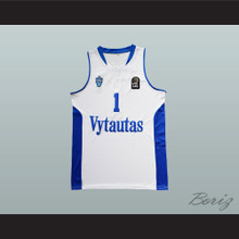 816a0be81733 Lamelo Ball 1 Lithuania Vytautas White Basketball Jersey