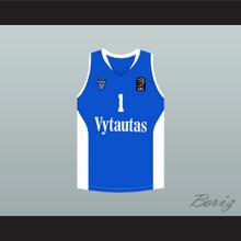 Lamelo Ball 1 Lithuania Vytautas Blue Basketball Jersey