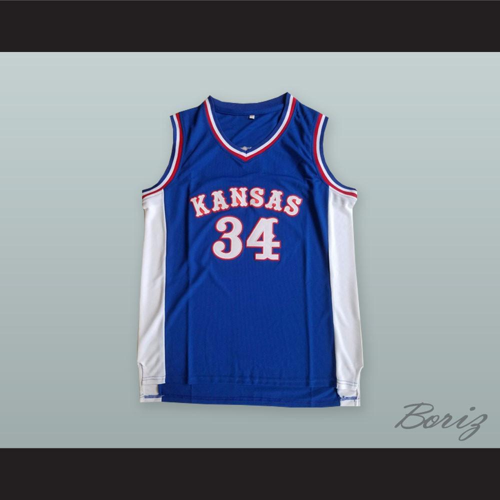 purchase cheap a1704 b228e Paul Pierce 34 Kansas Blue Basketball Jersey