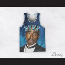 Tupac Shakur 6 Duke Basketball Jersey Design 3