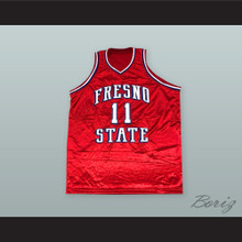 Rafer 'Skip To My Lou' Alston 11 Fresno State Red Basketball Jersey