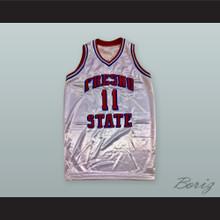 Rafer 'Skip To My Lou' Alston 11 Fresno State White Basketball Jersey