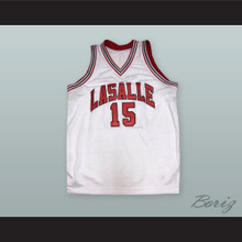 Ron Artest 15 LaSalle Academy White Basketball Jersey