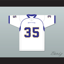 Chavis Daniels 35 Manassas Tigers High School White Football Jersey Undefeated