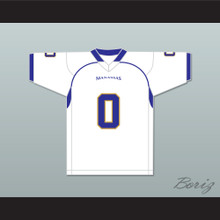 Chavis Daniels 0 Manassas Tigers High School White Football Jersey Undefeated