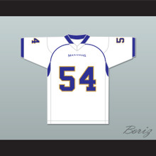 Montrail 'Money' Brown 54 Manassas Tigers High School White Football Jersey Undefeated