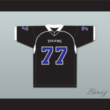 O.C. Brown 77 Manassas Tigers High School Black Football Jersey Undefeated