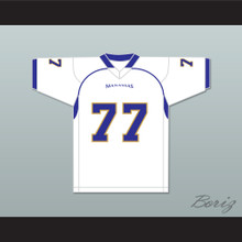 O.C. Brown 77 Manassas Tigers High School White Football Jersey Undefeated