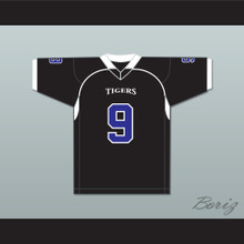 Omar Williams 9 Manassas Tigers High School Black Football Jersey Undefeated