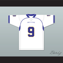 Omar Williams 9 Manassas Tigers High School White Football Jersey Undefeated