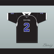 Parker 2 Manassas Tigers High School Black Football Jersey Undefeated