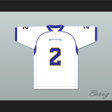 Parker 2 Manassas Tigers High School White Football Jersey Undefeated