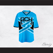 Rancho Carne High School Toros Male Cheerleader Light Blue Uniform