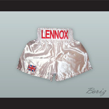Lennox Lewis White Boxing Shorts