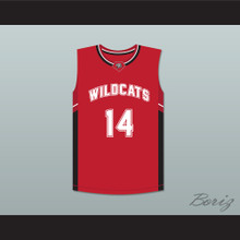 Troy Bolton 14 East High School Wildcats Red Basketball Jersey