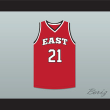 Jack Bolton 21 East High School Wildcats Red Basketball Jersey