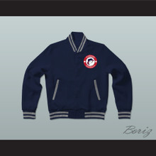 Pioneers Baseball Dark Blue Varsity Letterman Jacket-Style Sweatshirt Hardball Sitcom
