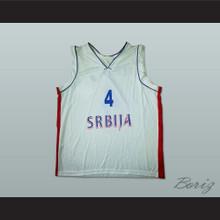 Milos Teodosic 4 Serbia Basketball Jersey Stitch Sewn