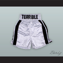 Erik 'The Terrible' Morales White Boxing Shorts