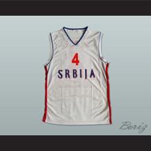 Milos Teodosic 4 Serbia Basketball Jersey