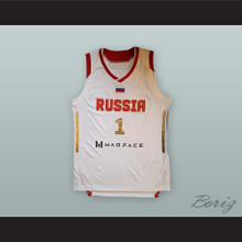 Alexey Shved 1 Russia National Team White Basketball Jersey