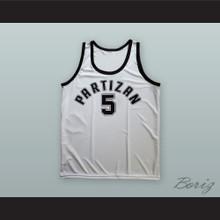 Jadranka Kosor 5 KK Partizan Belgrade White Basketball Jersey
