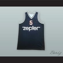 Haris Brkic 5 KK Partizan Belgrade Black Basketball Jersey