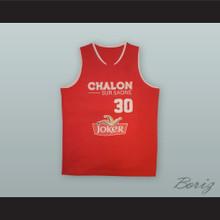 Mickael Gelabale 30 Élan Chalon France Basketball Jersey