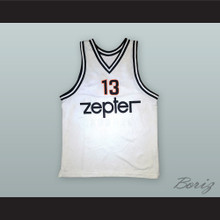 Miroslav Radosevic 13 KK Partizan Belgrade White Basketball Jersey