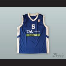 Andres Nocioni  5 TAU Ceramica Blue Basketball Jersey