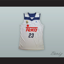 Sergio Llull 23 Real Madrid White Basketball Jersey