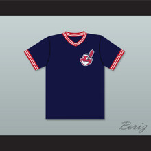 Eddie Harris 10 Dark Blue Baseball Jersey Major League