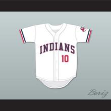 Eddie Harris 10 White Baseball Jersey Major League