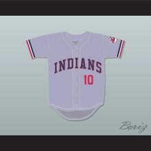 Eddie Harris 10 Gray Baseball Jersey Major League