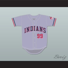 Ricky Vaughn 99 Gray Baseball Jersey Major League