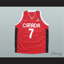 Steve Nash Canada Basketball Jersey Red