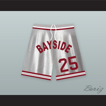 Zack Morris 25 Bayside Tigers Basketball Shorts