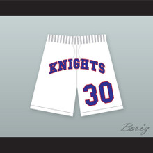 Stephen Curry 30 Charlotte Christian High School Knights White Basketball Shorts