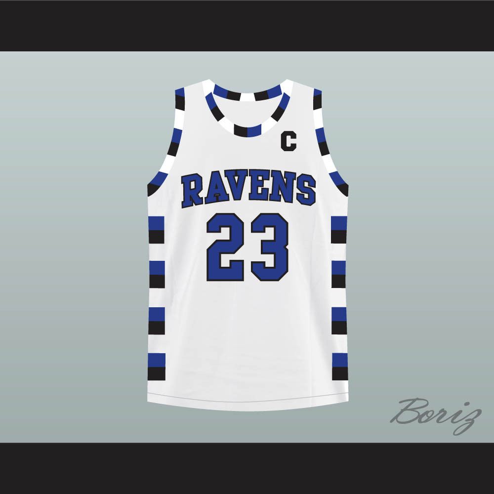 3c95a06166a1 Nathan Scott 23 One Tree Hill Ravens White Basketball Jersey. Price    45.99. Image 1
