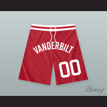 Steve Urkel 00 Vanderbilt Muskrats High School Red Basketball Shorts