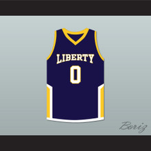 Terron Forte 0 Liberty Dark Blue Basketball Jersey Amateur