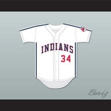 Lou Brown 34 White Baseball Jersey Major League II