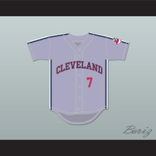 Jake Taylor 7 Gray Baseball Jersey Major League II